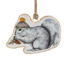 Ornament - Squirrel In  A Toque