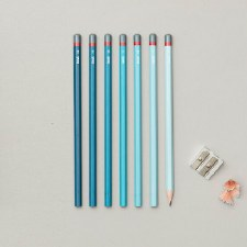 Gradient Sketching Pencils - Blue Set