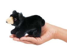 Finger Puppet - Black Bear