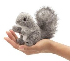 Finger Puppet - Gray Squirrel