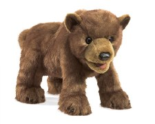 Hand Puppet: Brown Bear Cub