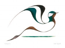 Isaac Bignell: Gliding In Matted Print
