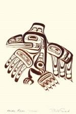 Bill Reid: Haida Raven-Xuuya, Matted Print