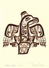 Bill Reid: Haida Eagle-Ghuut Matted Print