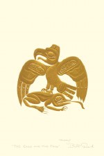 Bill Reid: The Eagle and the Frog, Matted Print