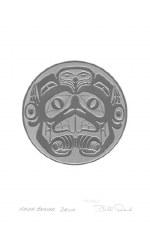 Bill Reid: Haida Beaver Drum, Matted Print