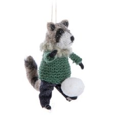 Ornament - Raccon With Snowball