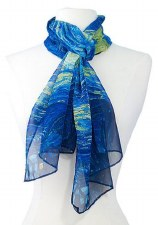 Chiffon Scarf - Vincent Van Gogh: Starry Night