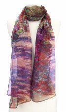 Chiffon Scarf - Claude Monet: Garden Pathway