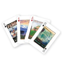 Canadian Travel Vintage Art  Playing Cards