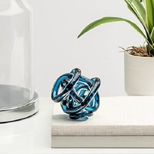 Orbit Glass Knot - Indigo