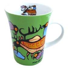 Norval Morrisseau: Moose Harmony Porcelain Mug