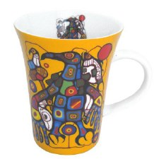 Norval Morrisseau: Man Changes into Thunderbird Porcelain Mug