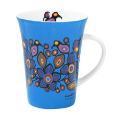 Norval Morrisseau: Flowers and Birds Porcelain Mug