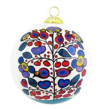 Norval Morrisseau: Woodland Floral Glass Ornament