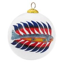 Kenojuak Ashevak: Luminous Char Glass Ornament