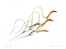 Benjamin Chee Chee: Spring Flight, Matted Print