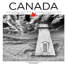 Canada Black and White 2021 Wall Calendar