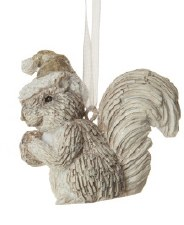 Ornament - Squirrel In A Santa Hat