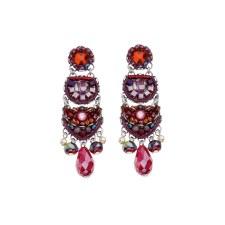 Ayala Bar: Chandelier Earring - Ruby Drop