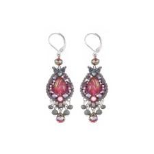 Ayala Bar: Hook Earring - Pink Silver Cascade