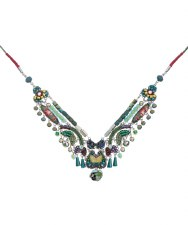 Ayala Bar: Bib Necklace - Green Lawn Lumina