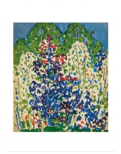 David Milne: Cobalt Trees - 14x11