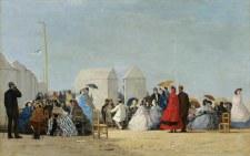 Eugène Louis Boudin: Sur la plage de Trouville - Art Block