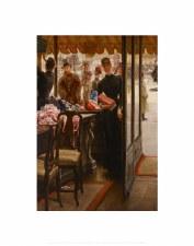 James Tissot: La Demoiselle de Magasin - 14x11