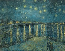 Vincent van Gogh: Starry Night over the Rhone, 1888 - 11x14