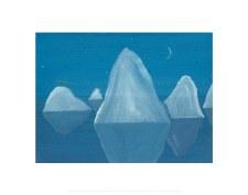 Matthew Wong: Untitled (Icebergs) - 16X20