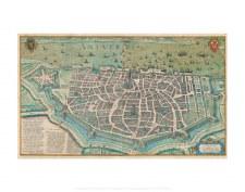 Hoefnagel: Antverpia Bird's Eye View with the Citadel