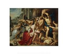 "Peter Paul Rubens: Massacre of the Innocents - 11"" x 14"""