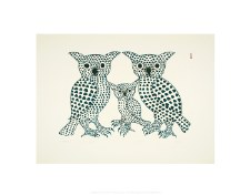 "Kenojuak Ashevak: Winter Owls 11"" x 14"""