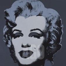 """Andy Warhol:  Marilyn 1967 Black 12"""" x 12"""""""
