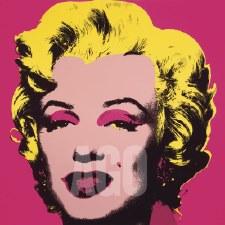 "Andy Warhol:  Marilyn 1967 Hot Pink 12"" x 12"""