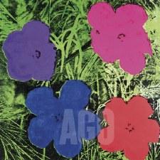 "Andy Warhol: Flowers c1964 12"" x 12"""
