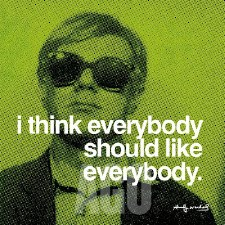 """Andy Warhol Quote: I think Everybody Should 12"""" x 12"""""""