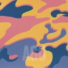 "Andy Warhol:  Camouflage Pink Purple Orange 12"" x 12"""