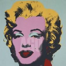 """Andy Warhol: Marilyn 1967 On Blue 12"""" x 12"""""""