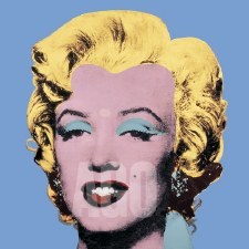 "Andy Warhol: Marilyn Shot Light Blue 12"" x 12"""