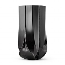 Zaha Hadid Braid Vase - Wide Black