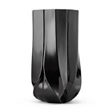 Braid Vase - Wide Black