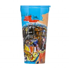 Corkcicle Basquiat Skull Travel Tumbler