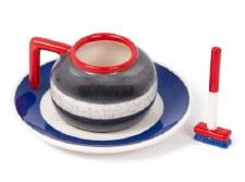 Curling Espresso Cup + Saucer Set