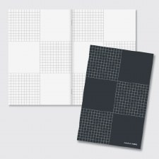 'In the Margin' Checkered Notebook