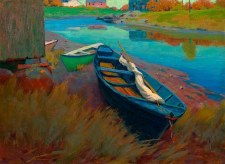 """Arthur Wesley Dow: Boats at Rest - 11"""" x 14"""""""