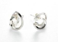 Dorothee Rosen: Sterling Silver Knot Earrings