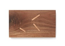 David Stepan: Mini Walnut Serve Board with Inset Copper Detail