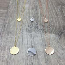 jj + rr - Double Necklace With Circles Silver